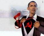 Obama w Hammer Sickle