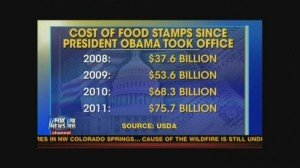 Cost of food stamps more than double under Obama